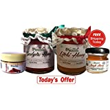 Farm Naturelle 100% Pure Raw Natural Eucalyptus Forest Honey & Litchi Flower Honey Combo Pack Of 2x250 Gms + Cinnamon...