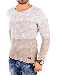 Reslad Strickpullover Herren Color-block Winter Pullover RS-3106