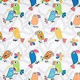 Fabulous Fabrics Cretonne Kinder Vorhangstoff Lustige
