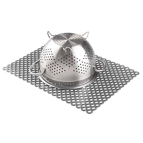 mDesign Spülbeckeneinlage zum Schutz der Küchenspüle vor Kratzern - praktische Abtropfmatte aus Kunststoff - graphit-farben