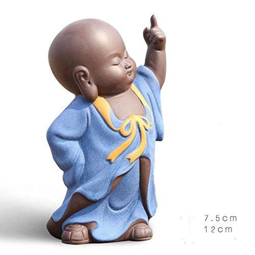 Buddha Handwerk Dekoration moderne einfach kreativ Living kleine lila Mönch kreativ Boutique Tee verderben Handwerk Ornamente , B