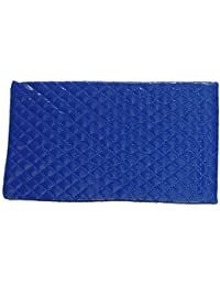 Blue Quilted Slip-in Soft Sunglasses Spectacles Pouch Case