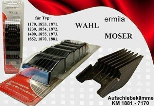 Wahl moser ermila kit set rialzi universali per tosatrice tagliacapelli 1400 1884 1230 1853