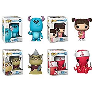 FunkoPOP Monsters Inc Sulley Boo Roz Chef Stylized Disney Pixar Vinyl Figure Bundle Set