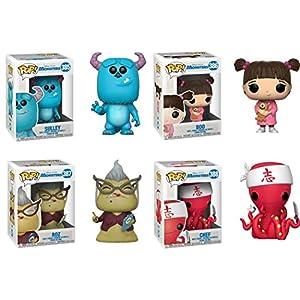 FunkoPOP Monsters Inc Sulley Boo Roz Chef Stylized Disney Pixar Vinyl Figure Bundle Set