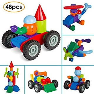 Mvpower Magnetic Building Blocks Magnetic 3D Toy 48pcs Set Creative and Educational for Kids from 3 Years Kids Toys