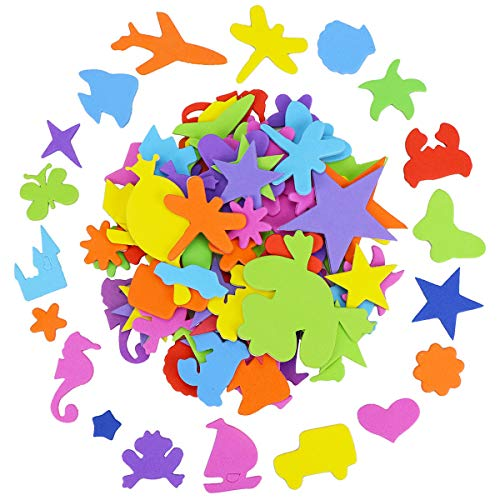Hysagtek 390 Pcs Schaumstoff Sticker Selbstklebende Bastelsticker zum Dekorieren, Scrapbooking und Kartenbasteln, Formen (Dekorieren Sie Ein Auto Für Halloween)