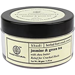 Khadi Jasmine and Green Tea Herbal Foot Crack Cream, 50gm