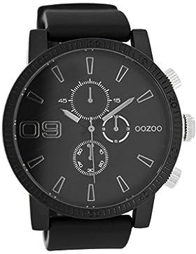 Oozoo Herrenuhr mit Silikonband 50 MM Schwarz/Schwarz C7494