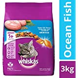 Whiskas Adult Dry Cat Food, Ocean Fish Flavour – 3 kg Pack