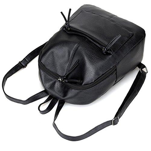 ZPFME Frauen Schultertaschen Einfach Drei Sets Umhängetasche Party Retro Bankett Mode Schultertasche Kleine Hand Damen Tasche Black
