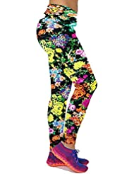 Leggins Pantalones Mujer Caliente Venta de Nuevo Las Flower Impresa Polainas Style15 XL