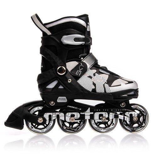 Skates | Kinder | Damen | Herren | Größenverstellbar | 30-33 / 34-37 / 38-41 | ABEC7, Größe:M (34-37) (Rollerblades Herren Klein)