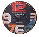 Alice's Collection - Grande Orologio da parete, Stile Vintage, diametro 60cm