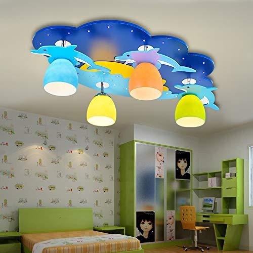 Kinderzimmer-kronleuchter Schattierungen (Kronleuchter Mittelmeer Kinderzimmer Licht Cartoon Schlafzimmer Lampe Mädchen Jungen Zimmer Licht Baby Auge Licht Kreative Deckenleuchte)