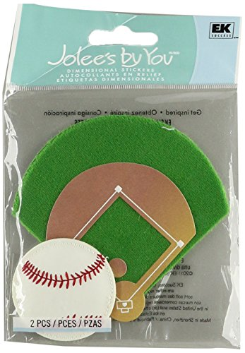Scrapbooking Sticker-baseball (Baseball Jolee's By You Dimensional Embellishment JJ-C-81328)