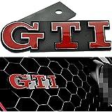 Appson Emblema insignia para parrilla delantera para coche GTI, color rojo