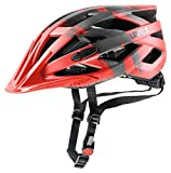 Uvex Erwachsene Fahrradhelm I-VO CC, Rot (Red darksilver mat), 56-60 cm
