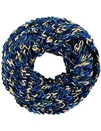 Viper Tube Schals Schlauchschal Loop Strickschal Schal Rundschal Winterschal, Farbe wählen:SCH-255g blau
