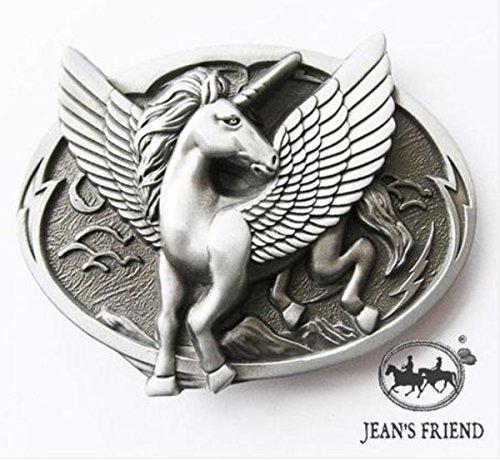 Flügel Kostüm Pegasus - napolo Western Buckle Belt Cowboy gurtelschnallen New Pegasus flügel Einhorn schwarz