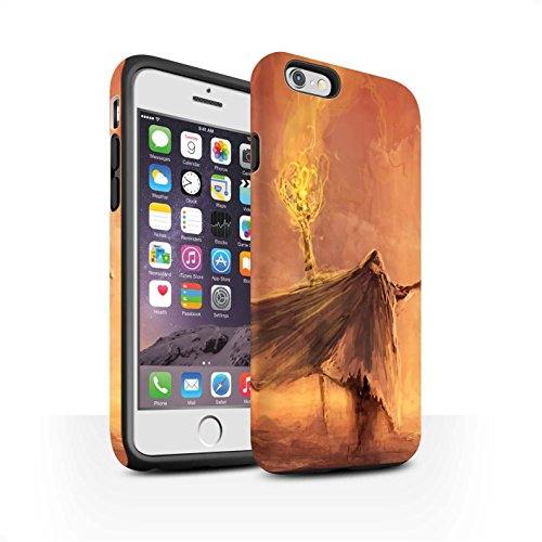 Offiziell Chris Cold Hülle / Matte Harten Stoßfest Case für Apple iPhone 6 / Dunkelste Stunde Muster / Dämonisches Tier Kollektion Kriegsheld/Warlock