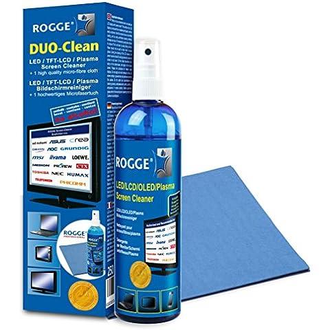Rogge 10025 kit de limpieza para computadora - Kit de limpieza para ordenador (Mojado / seco paños y líquidos, LCD/TFT/Plasma, Microfibra)