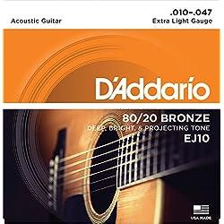 Set de cuerdas - D'Addario EJ10, Naranja