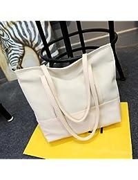 GUMO-Bolsas de playa, bolsas de nylon, bolsas de tela, tela oxford impermeable, casuales, solo bolsas de hombro, bolsos, blanco