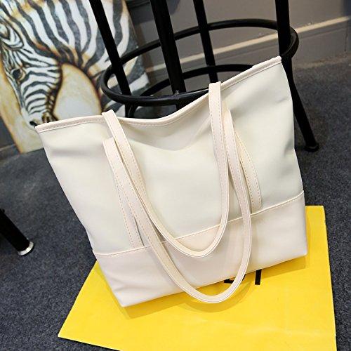 GUMO-Spiaggia sacchi, sacchetti di nylon, sacchi di tela impermeabile, panno di Oxford, casual, singole borse a tracolla, borse,bianco White