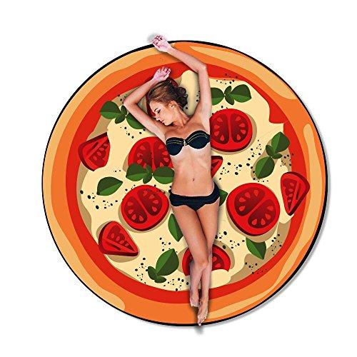 Strandtuch Rund A Form von Pizza Baby - Diametro 75cm