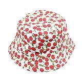 QUICKLYLY Sombrero Pescador con Algodón de Protectora del Sol Sombrero de Vaquero Primavera Venaro para Bebés Niños Niñas (Rojo)