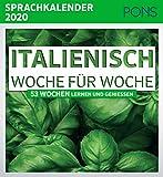 PONS Sprachkalender 2020 Italienisch Woche für Woche: 53 Wochen lernen und genießen