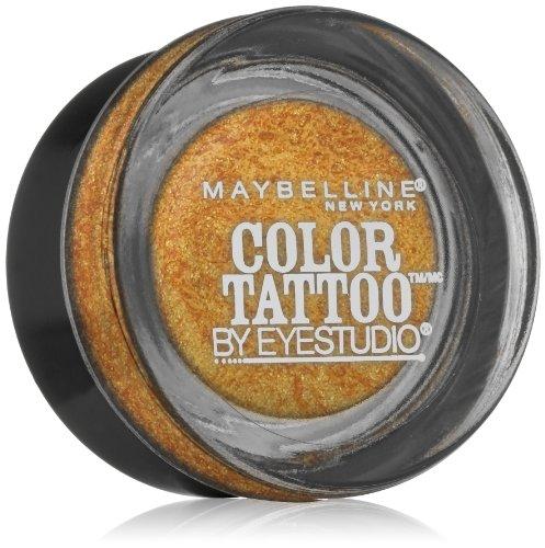 Maybelline New York Eye Studio Color Tattoo Metal 24 Hour Cream Gel Eyeshadow, Gold Rush, 0.14 Ounce by Maybeline New York (Color Tattoo Metal)