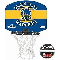Spalding NBA Miniboard Golden State 77-661Z Minicanasta, Unisex, Multicolor, Talla Única
