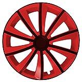 Eight Tec Handelsagentur (Farbe & Größe wählbar) 4er Set 15 Zoll G-Bic Schwarz-Rot Radkappen Radzierblenden Radabdeckungen (Universal)