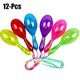 12PCS Party Rattle Creative LED incandescente tifo in plastica Maraca Toy Toy Favore con cordino per i bambini