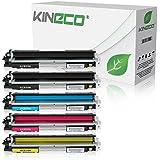 5 Kineco Toner kompatibel zu HP CE310-CE313 LaserJet Pto 100 Color MFP M175, Pro M275, Color LaserJet Pro CP1021, CP1025, CP1028 - Schwarz je 1.200 Seiten, Color je 1.000 Seiten