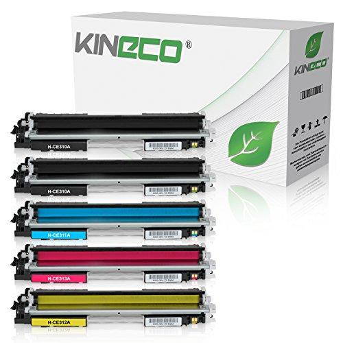 126a Laser Toner Cartridge - 5 Kineco Toner kompatibel zu HP