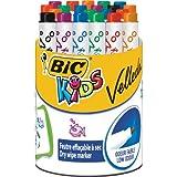 BIC Kids Mini Velleda Pot de 24 Feutres effaçable à sec