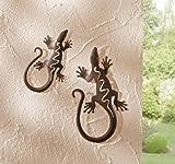 """Metall-Deko """"Gecko"""", 2er Set"""