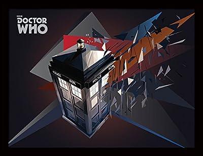 """Doctor Who """"Tardis géométrique 30x 40cm Affiche encadrée"""