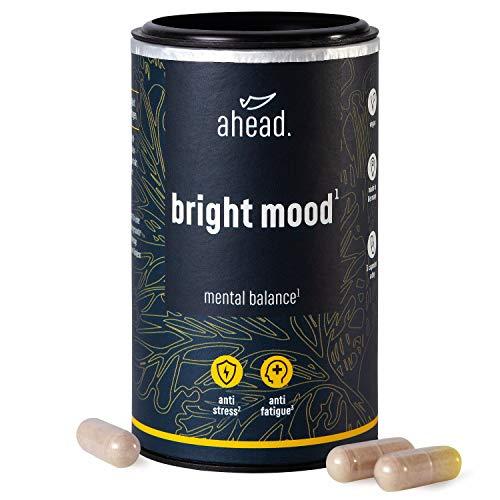 5 Htp 30 Kapseln (ahead® BRIGHT MOOD | Natürlicher Booster* mit Vitamin B6 für Stimmung, Wohlbefinden und Nervensystem* | L-Tryptophan, 5-HTP, Reishi, B12 | | 90 vegane Kapseln)