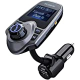 VicTsing Kit de Voiture Transmetteur FM sans fil Bluetooth Kit Chargeur USB de Voiture avec 3.5 ...