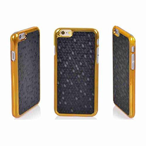 Splendid (TM) Design Neuheit Luxus Gold Chrom Hard Shell zurück Fall Cover für Apple iPhone 6, Black Chrome i6 Chrome Iphone Fall
