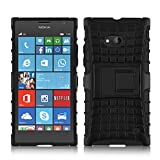 Nokia Lumia 730 - Stylish Heavy Duty Hard Back Armor Shock Proof Case Cover with Back Stand Feature by Accessories Collection
