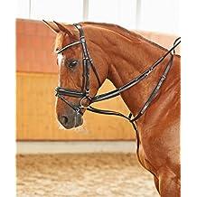 und Brustriemen Warmblut mit verstellbarem Hals schwarz AMKA Thiedemann-Kombination Hilfsz/ügel