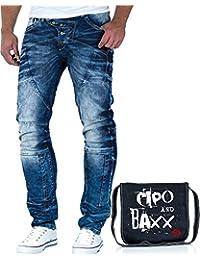 Cipo & Baxx Herren Jeans Freizeit Hose Streetwear inkl. Tasche