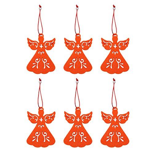 Cadillaps Weihanchten Mini Hängdeko Tannenbaum Dekoration 6 Stück Angel Weihnachtsbaum Deko