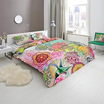 HIP Juego De Funda Individual  Nórdica Marvelous Multicolor Cama (140 x 200/220 cm), 1 funda almohada