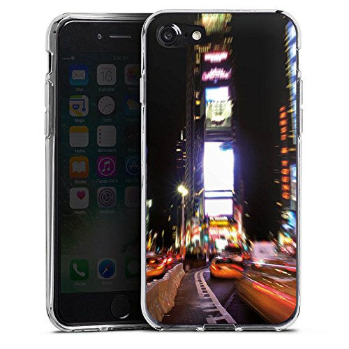 Apple iPhone X Silikon Hülle Case Schutzhülle Times Square Broadway New York City Silikon Case transparent